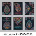 Set Of Six Cards Or Flyers Wit...