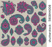 big vector set of colorful...   Shutterstock .eps vector #580844008