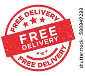 free delivery stamp vector  ... | Shutterstock .eps vector #580849288