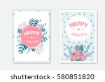 mothers day invitation card | Shutterstock .eps vector #580851820