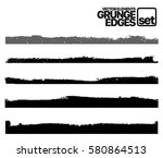 set of grunge and ink stroke... | Shutterstock .eps vector #580864513