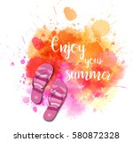 watercolor imitation splash... | Shutterstock .eps vector #580872328