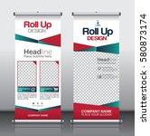 roll up brochure flyer banner... | Shutterstock .eps vector #580873174
