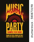 music concept poster template... | Shutterstock .eps vector #580873198