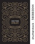 vector trendy linear frame with ... | Shutterstock .eps vector #580883044