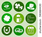 vector collection  st. patrick... | Shutterstock .eps vector #580884430