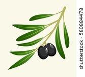 vector olive branch | Shutterstock .eps vector #580884478