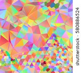 seamless pattern with rainbow... | Shutterstock .eps vector #580886524