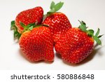 juicy strawberries | Shutterstock . vector #580886848