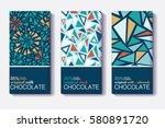 vector set of chocolate bar... | Shutterstock .eps vector #580891720
