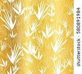 vector golden on white asian... | Shutterstock .eps vector #580891984