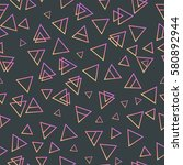 trendy geometric elements... | Shutterstock .eps vector #580892944