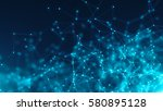 abstract connected dots.... | Shutterstock . vector #580895128