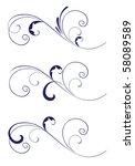 wedding stencil. variation. | Shutterstock .eps vector #58089589