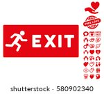 emergency exit pictograph with... | Shutterstock .eps vector #580902340
