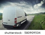 truck on the road 3d rendering | Shutterstock . vector #580909534