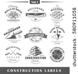 set of vintage construction... | Shutterstock .eps vector #580911058