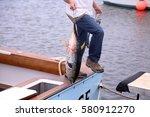 yellowfin tuna aka thunnus... | Shutterstock . vector #580912270