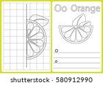 alphabet a z   puzzle worksheet ... | Shutterstock .eps vector #580912990