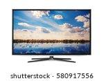4k monitor isolated on white | Shutterstock . vector #580917556