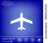 plane icon | Shutterstock .eps vector #580921963
