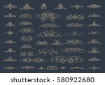 vintage decor elements and... | Shutterstock . vector #580922680