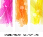 banner vertical templates with... | Shutterstock .eps vector #580924228