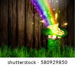 st. patrick s day symbol green... | Shutterstock .eps vector #580929850