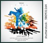karate fighter | Shutterstock .eps vector #580931164