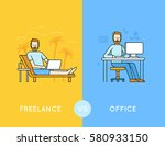 vector illustration in trendy... | Shutterstock .eps vector #580933150