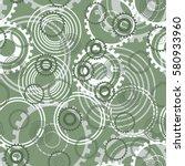 seamless pattern. springs gear... | Shutterstock .eps vector #580933960
