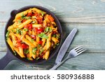 Penne Pasta In Pan With Space...