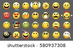 Emoticons Or Smileys Icon Set...