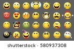 Emoticons Or Smileys Icon Set...