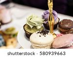 traditional afternoon high tea... | Shutterstock . vector #580939663