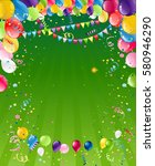 holiday template for design... | Shutterstock .eps vector #580946290