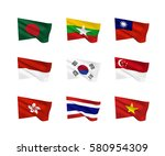 Vector Flags  South Asia...