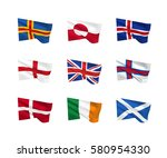 vector flags  northern islands...   Shutterstock .eps vector #580954330