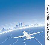 colombo skyline flight... | Shutterstock .eps vector #580957999