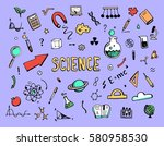 hand drawn set of cartoon... | Shutterstock .eps vector #580958530