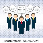 business people and speech... | Shutterstock .eps vector #580960924