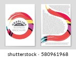 abstract vector layout... | Shutterstock .eps vector #580961968