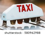 sign atop a taxicab in paris ...   Shutterstock . vector #580962988