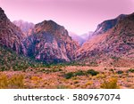 view of colorful mountains and... | Shutterstock . vector #580967074