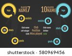 football  soccer  players... | Shutterstock .eps vector #580969456