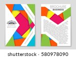 abstract vector layout... | Shutterstock .eps vector #580978090