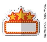cinema lights label icon   Shutterstock .eps vector #580979206