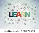 studying concept  painted... | Shutterstock . vector #580979554