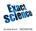 science concept  pixelated blue ... | Shutterstock . vector #580980508