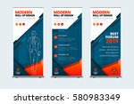 business roll up banner stand....   Shutterstock .eps vector #580983349